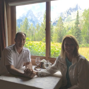 A lovely lunch at Jenny Lake Lodge - before we met up with the Russian thug.