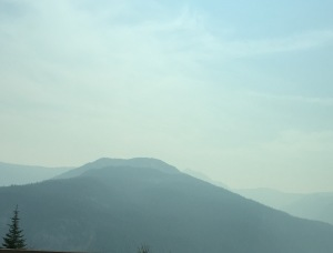 The road to Vancouver was very pretty, but very smoky!