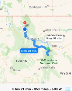 Today's travel route.